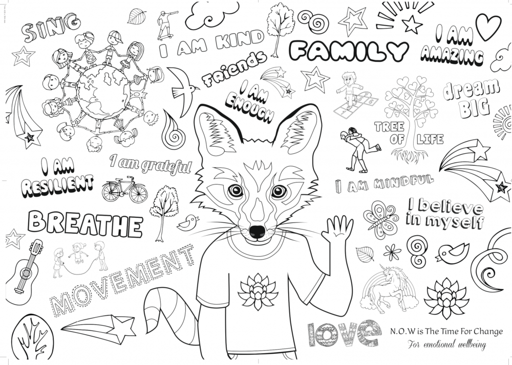 Mindful Colouring Sheet